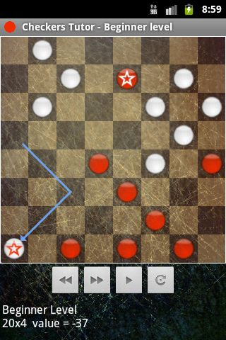 a screenshot of android checkers
