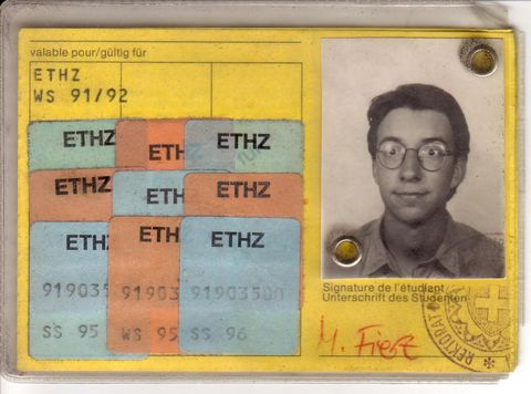 My student legitimation card of ETH Zürich, 1991