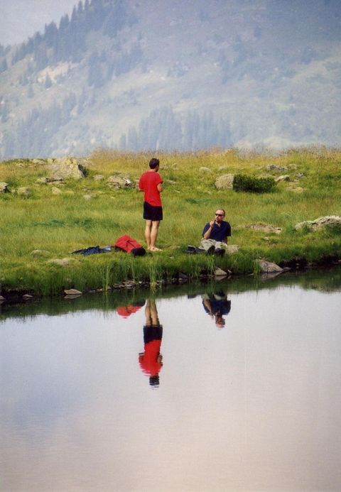 With my father at the Gritschersee in 1998