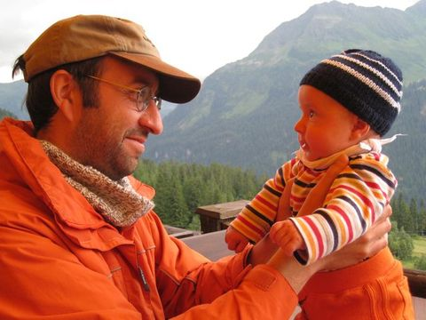 With my son Lorenz Markus on a mountain holiday
