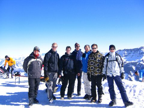 Ski day with the institute: Alejandro, Stefan, Markus, Heinz, Herbert, Simon and Thomas