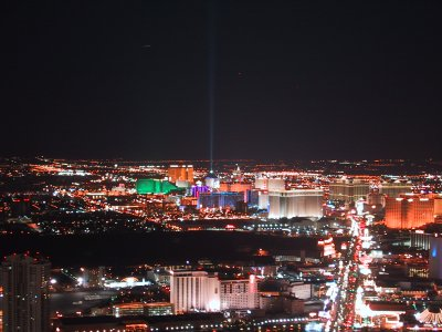 the strip at night